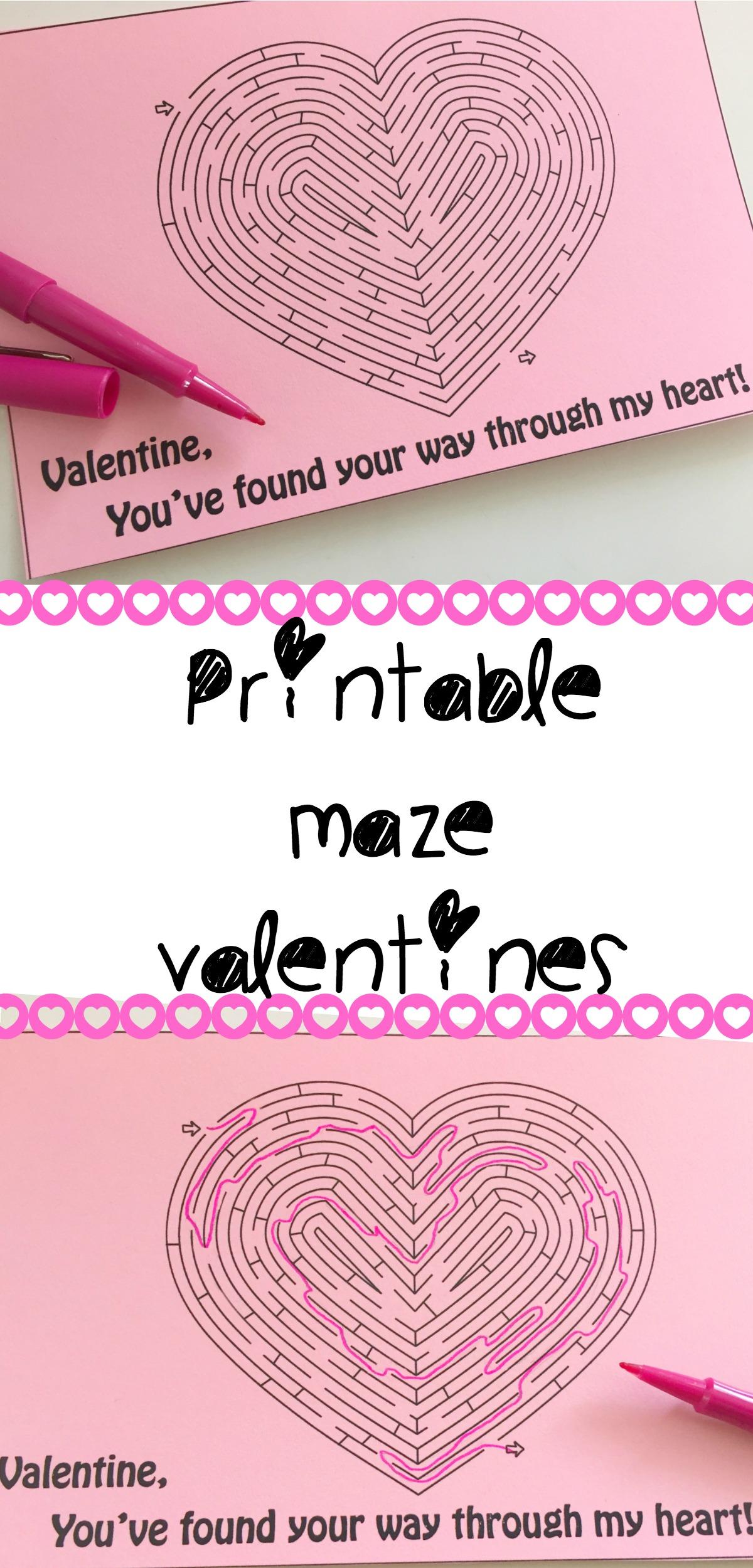 Printable Maze Valentine