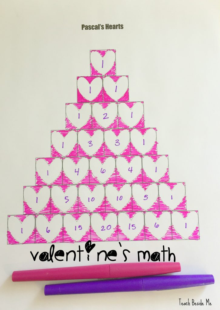 Valentines Math Pascals Triangle Of Hearts