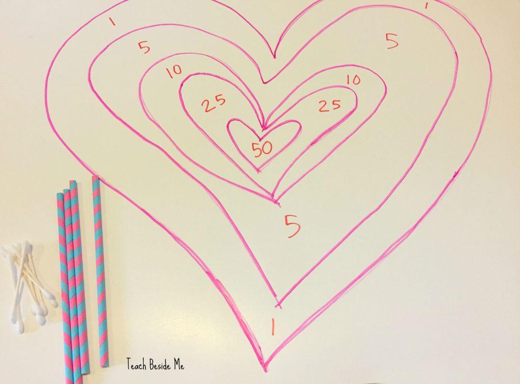 Valentine STEM- Cupid's Arrow Math Game