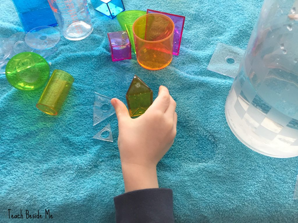 volume of shapes with water