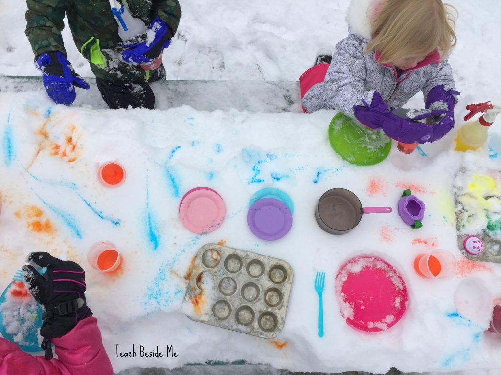 snow pretend play