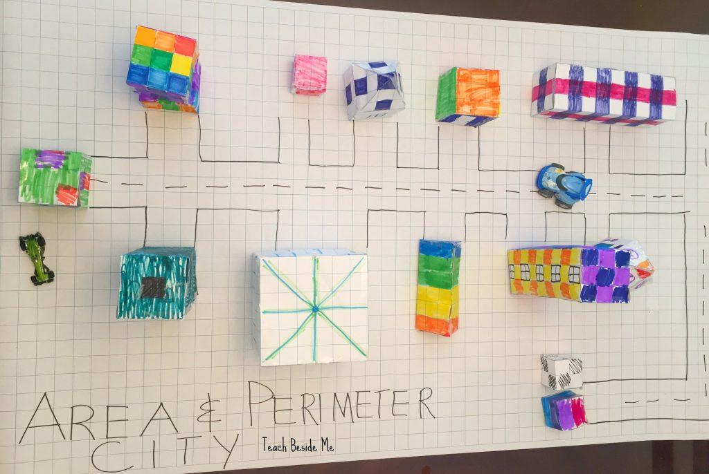 Graph Paper Area, Perimeter & Volume City