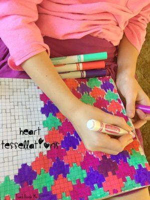 valentine math- heart tessellations