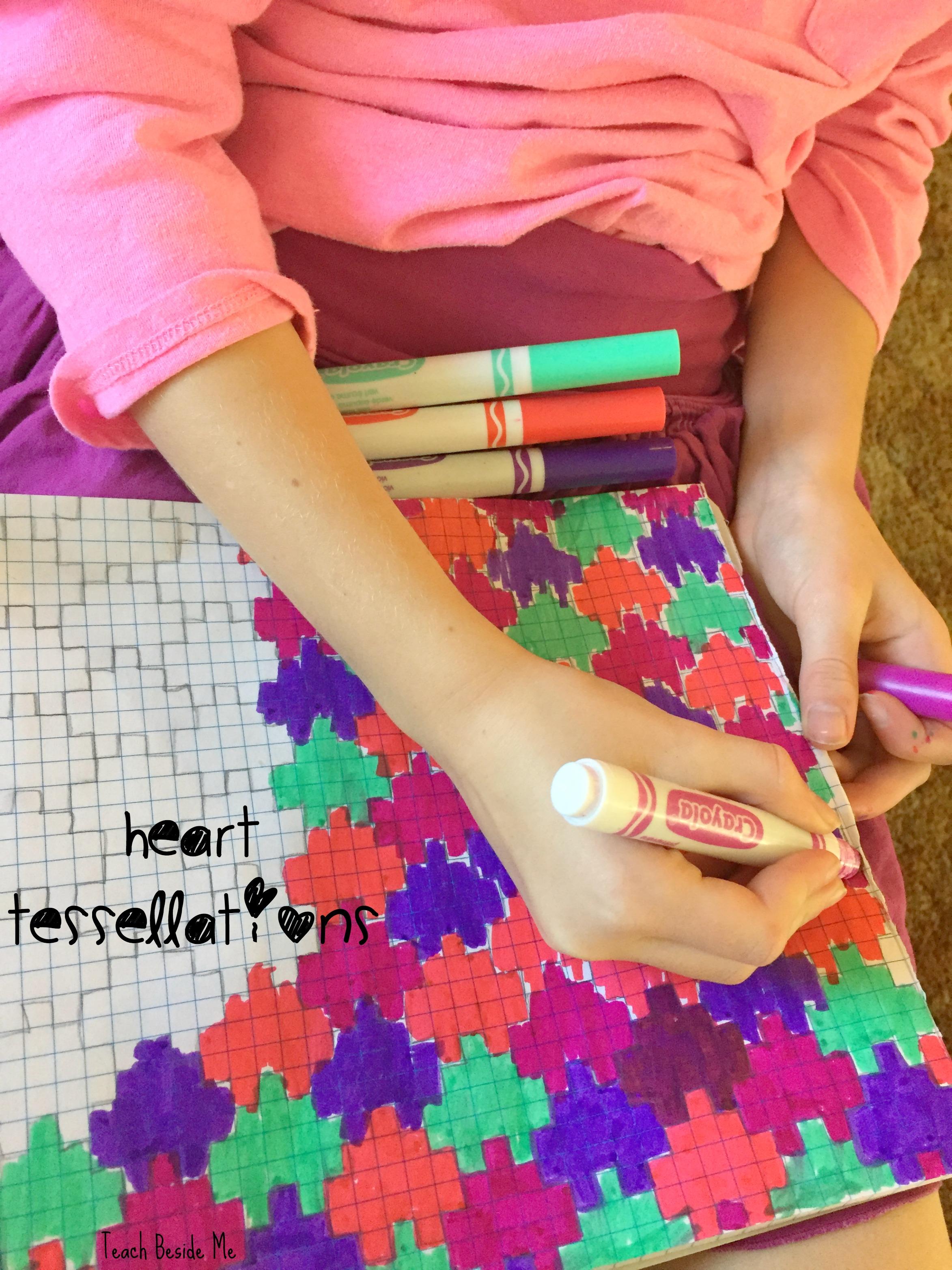 Heart Tessellation- Valentine Math