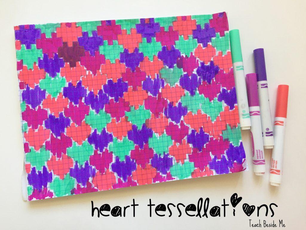 Heart Tessellation Valentine Math Teach Beside Me
