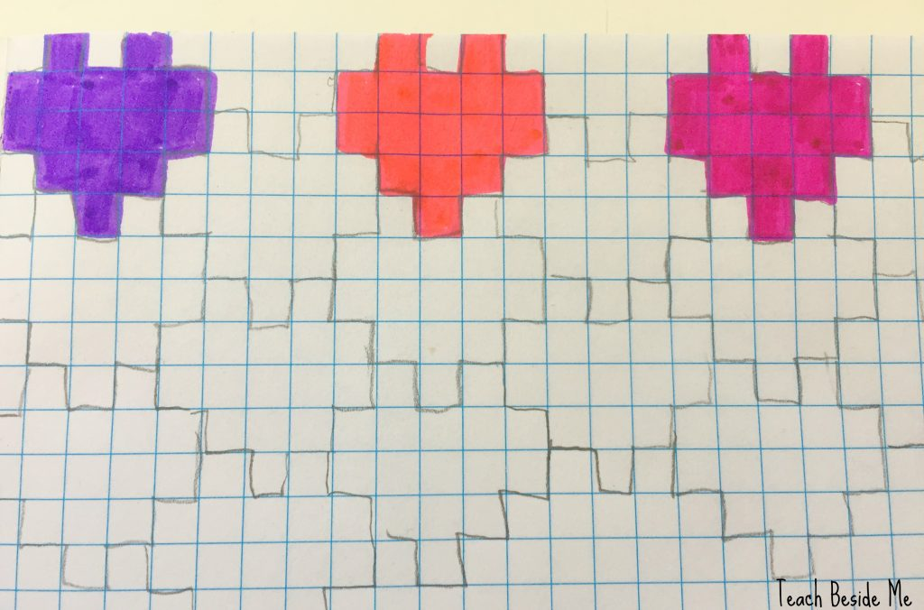 valentine math- heart tessellation