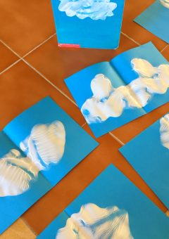 Ink Blot Cloud Shapes: Craft for Little Cloud Book