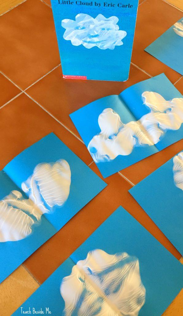 Little Cloud Book Craft Idea- Ink Blot Cloud Shapes