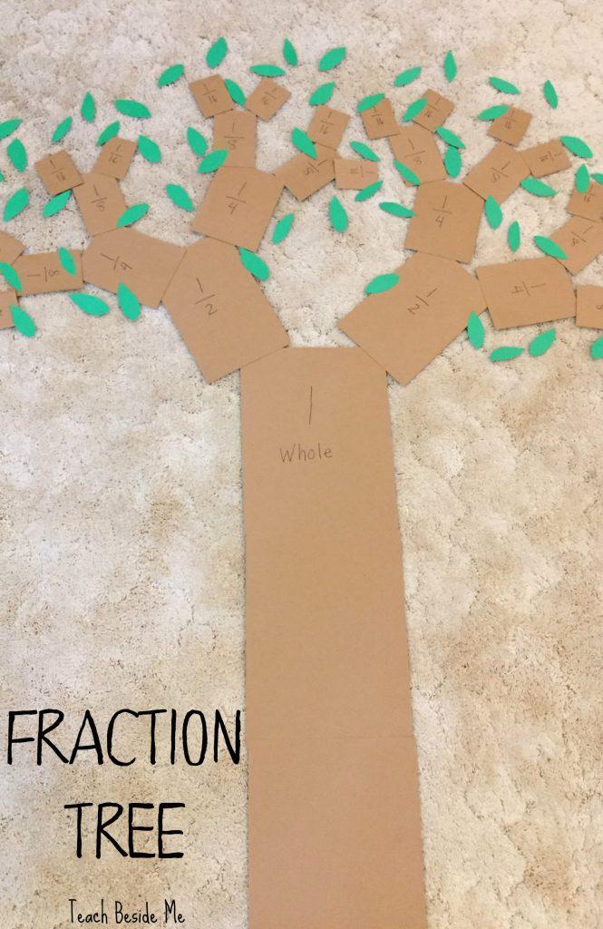 Fraction Tree- Fun Math activity to teach fractions