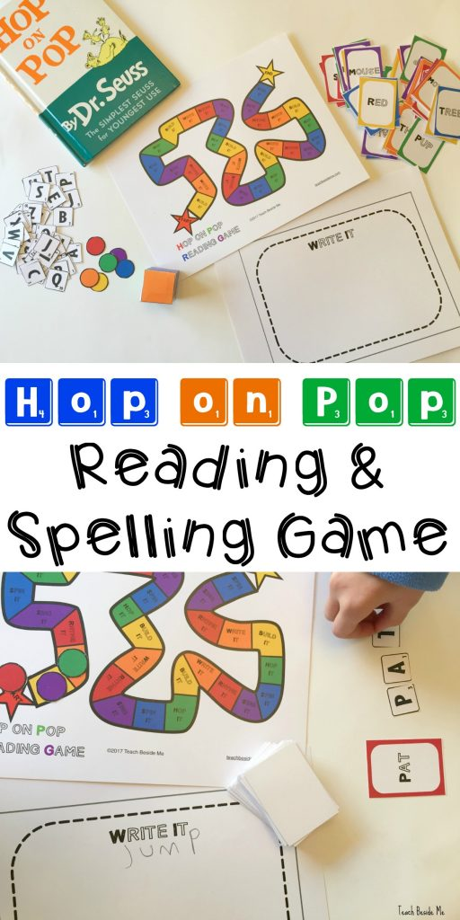 Dr Seuss Hop on Pop Spelling Game for reading & sight words