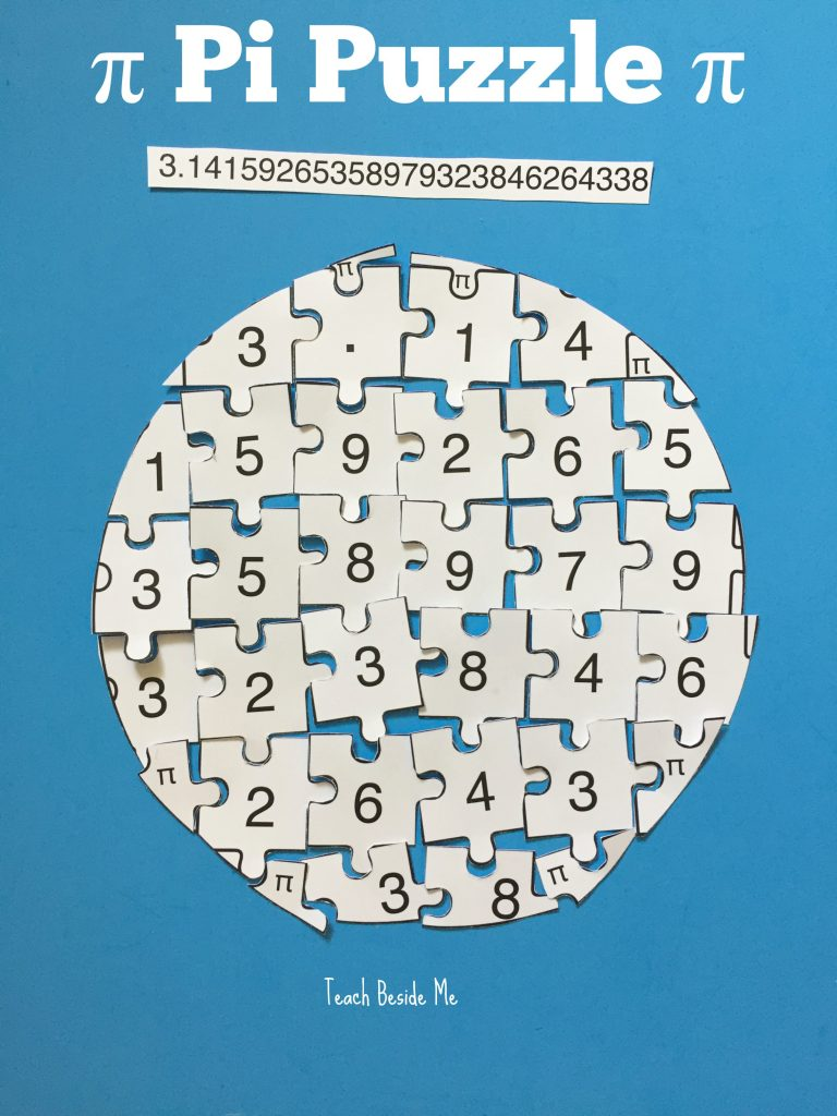 Pi Puzzle for Pi Day activ