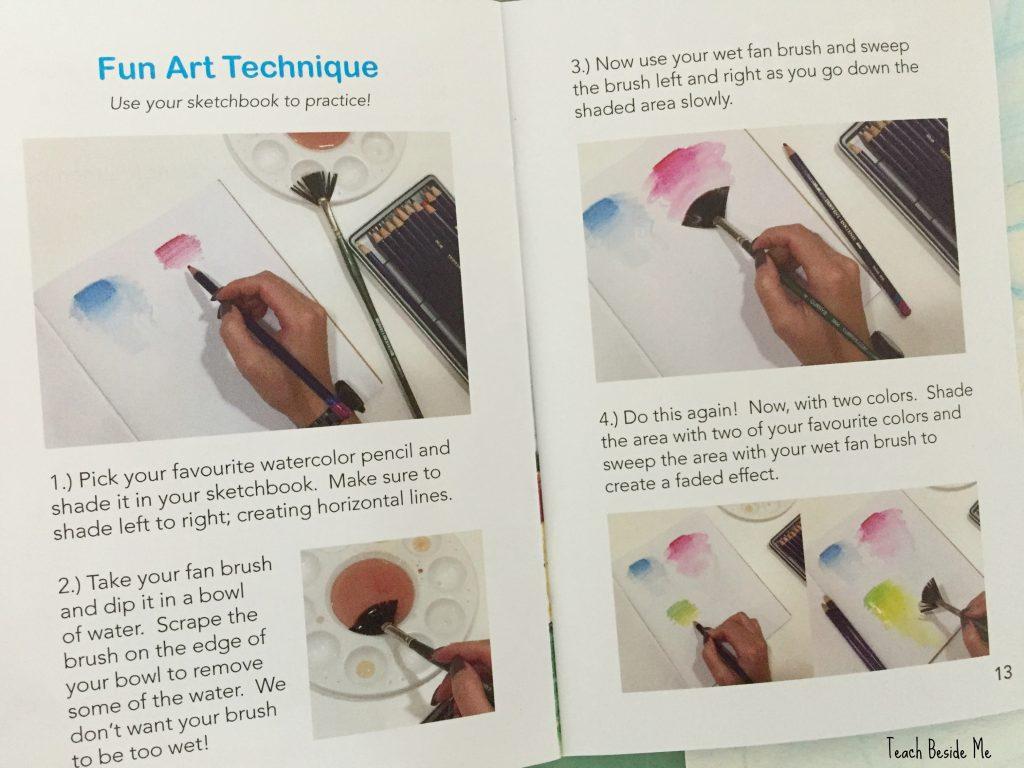 fan paintbrush art technique