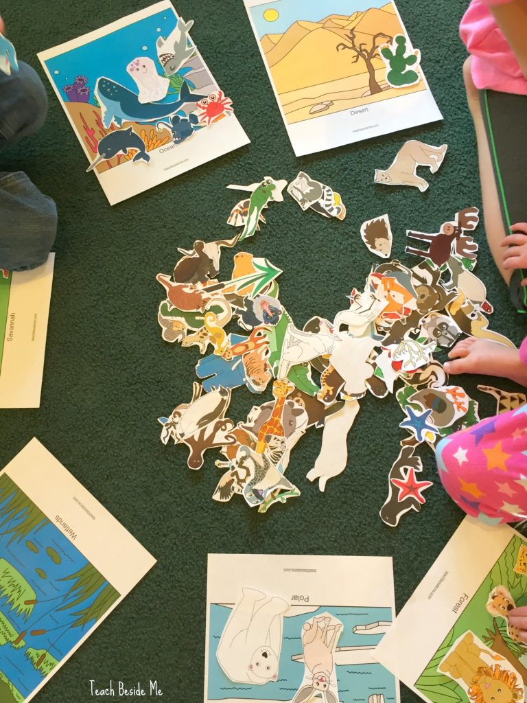 Animal Habitats Sorting and Play Mats