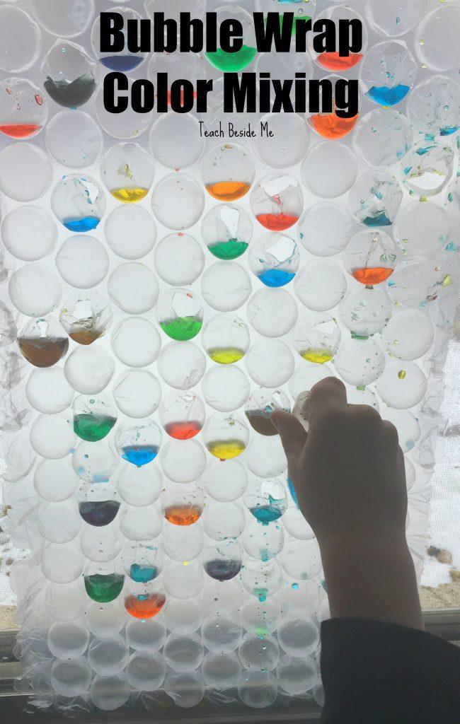 Bubble Wrap Color Mixing