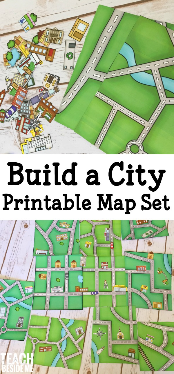 Build A City Map Printable Geography Set Teach Beside Me