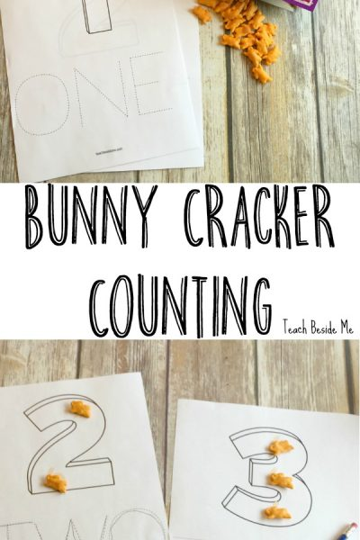 Printable Bunny Cracker Counting Pages