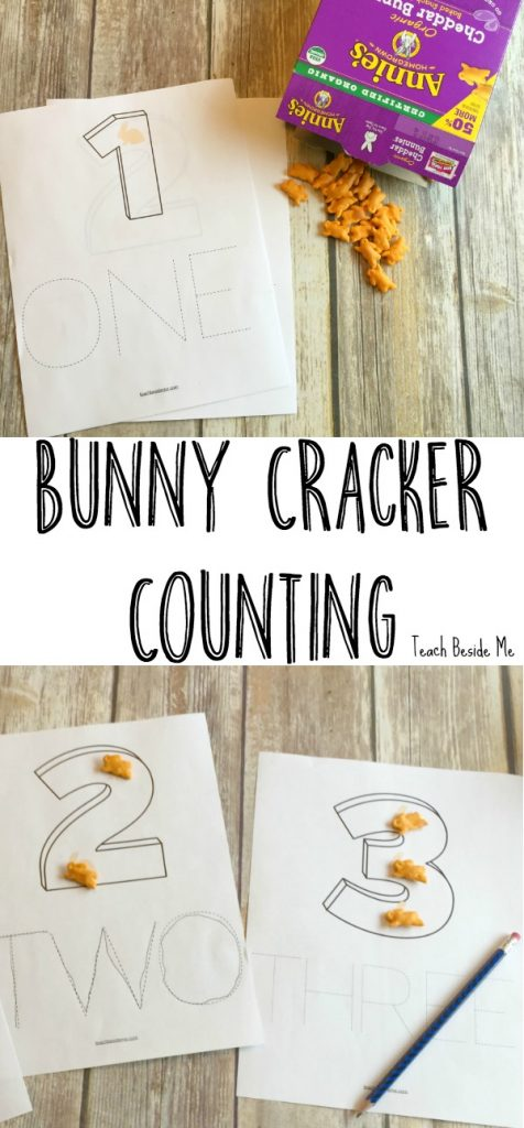 Bunny Cracker Counting and tracing pages