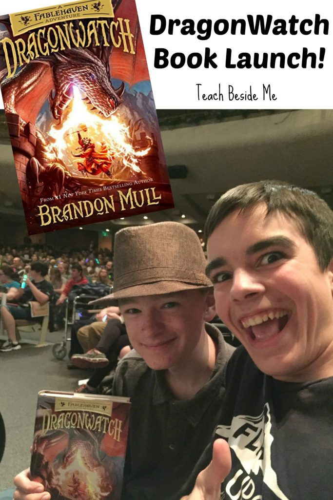 DragonWatch by Brandon Mull- book launch party