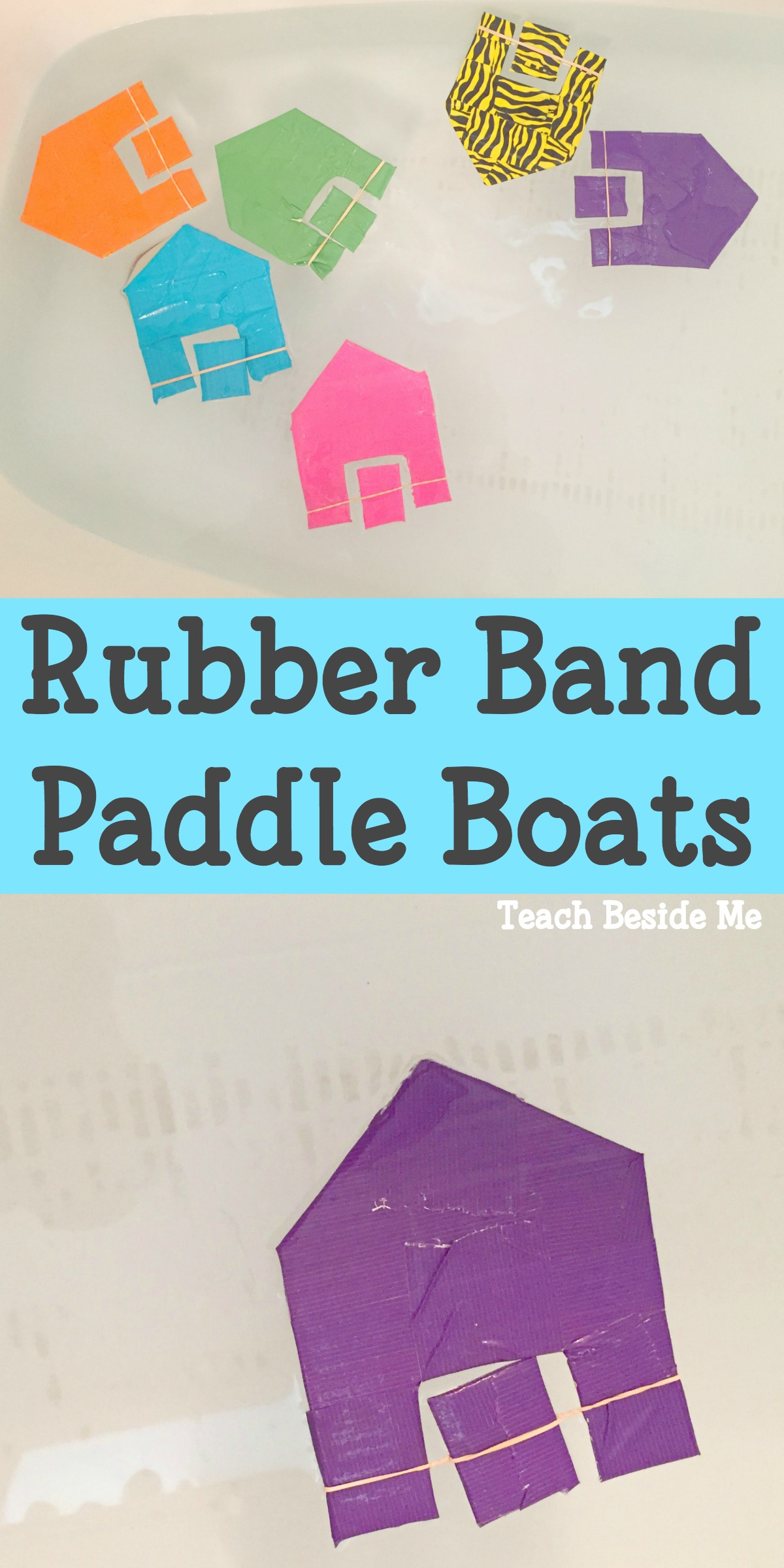 Homemade Toy Rubber Band Boats
