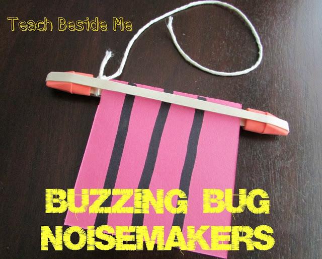 Sound waves experiment- buzzing bug noisemaker