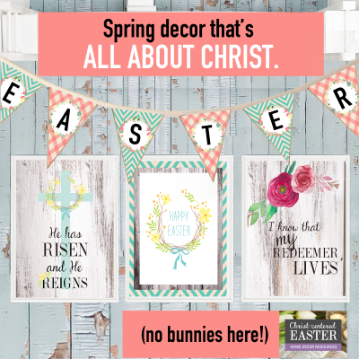 christ-centered easter home decor products