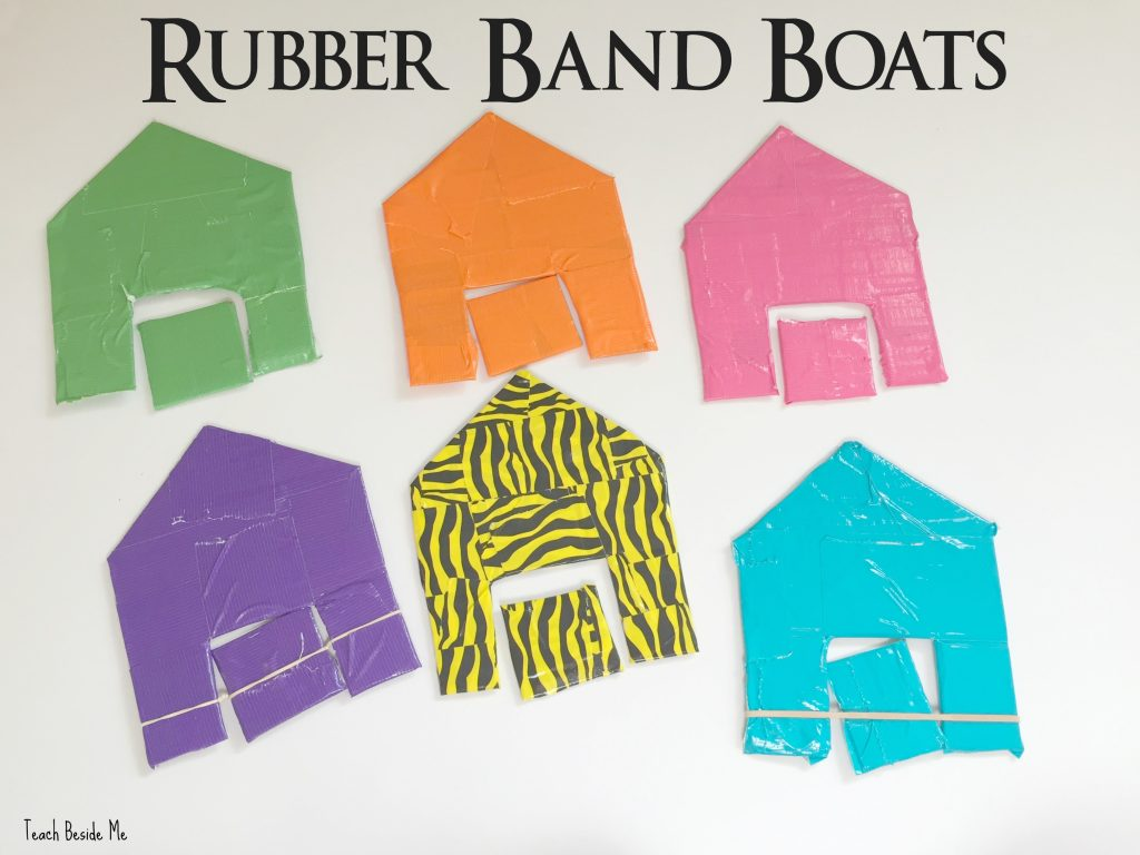 rubber band paddle boats