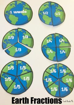 Earth Fractions – Earth Day Math