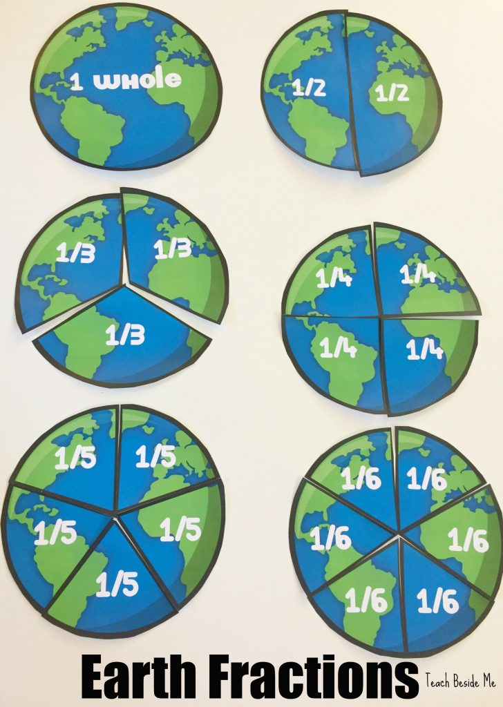 Earth Fractions- Earth Day Math