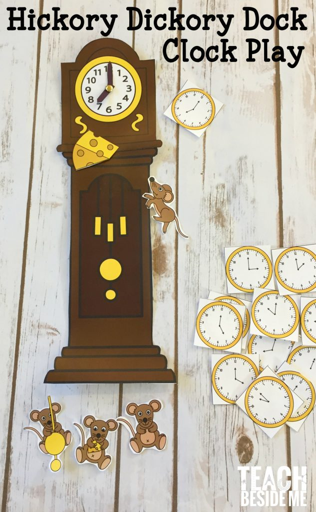 Hickory Dickory Dock clock learning and play- nursery rhyme