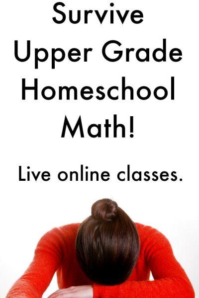 Live Online Math for Homeschool