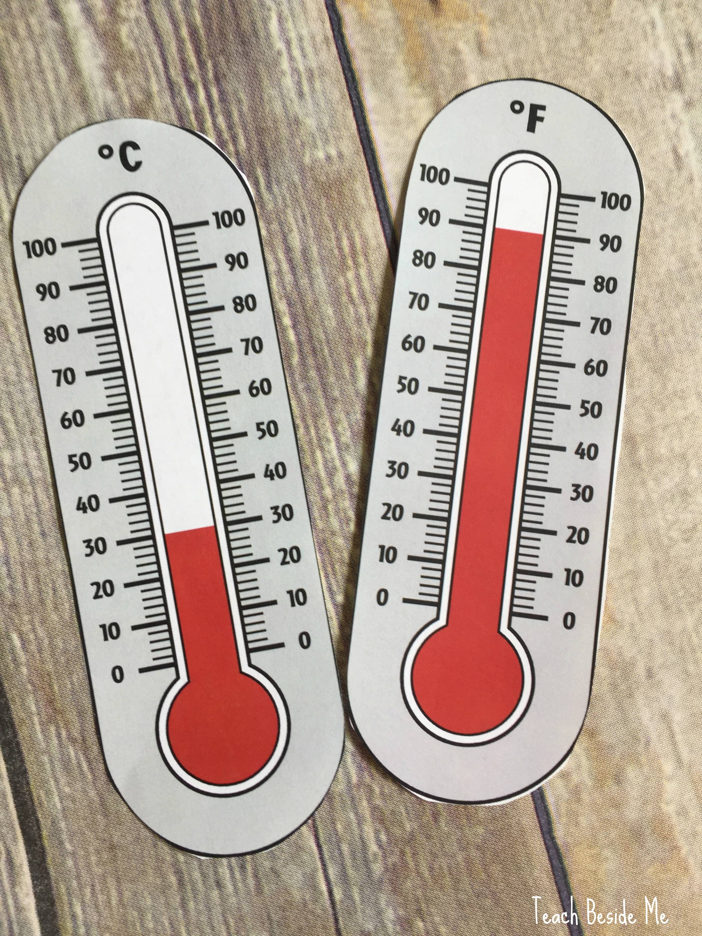 reading a thermometer with kids