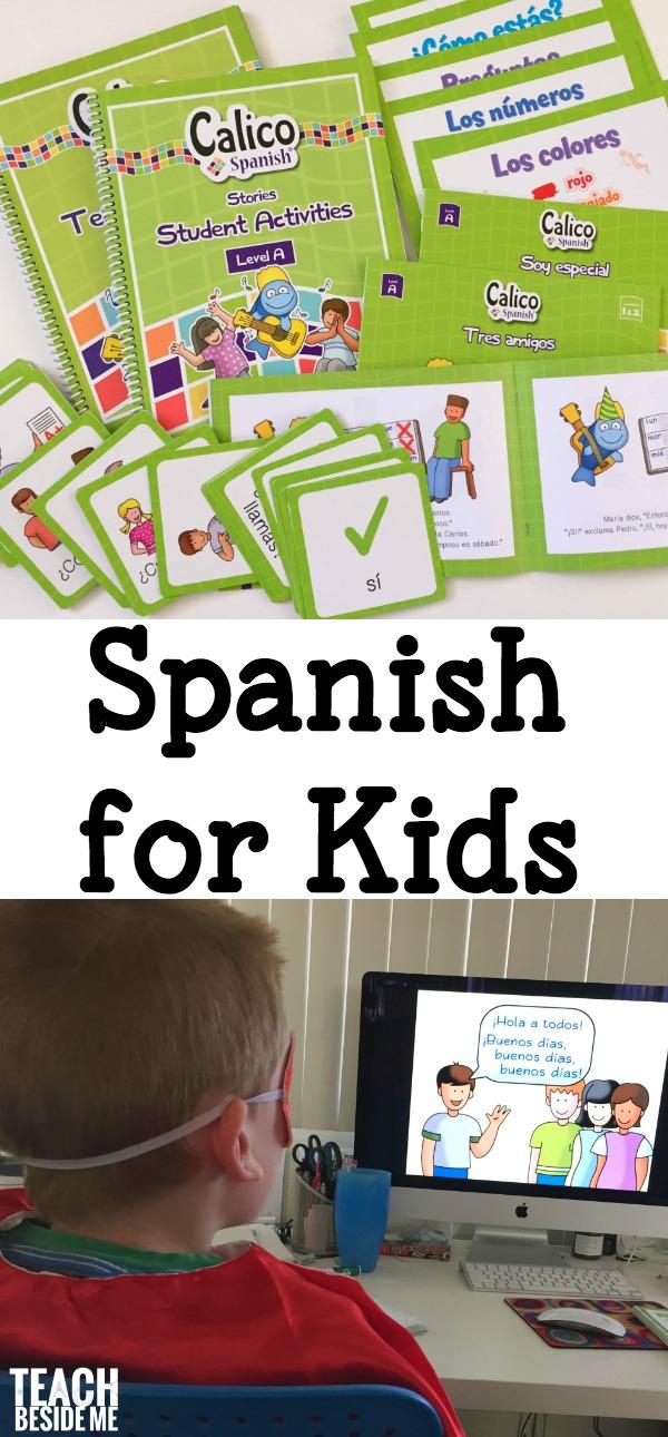 Calico Spanish Curriculum for Kids - Teach Beside Me Spanish Teacher Teaching