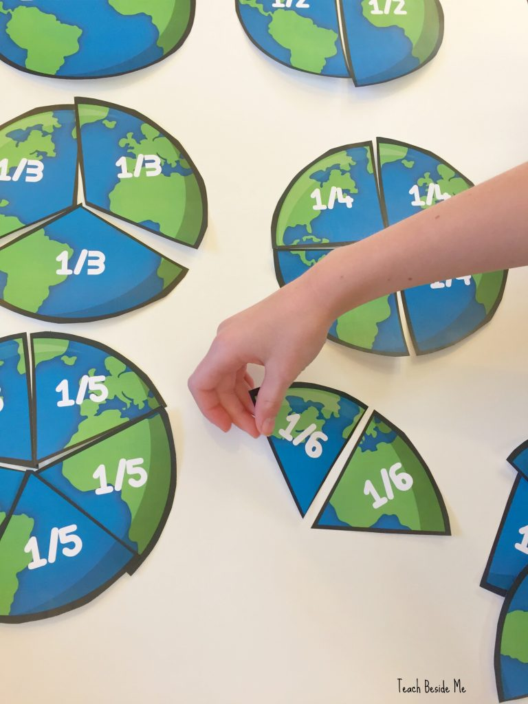 earth fractions- math & geography combo