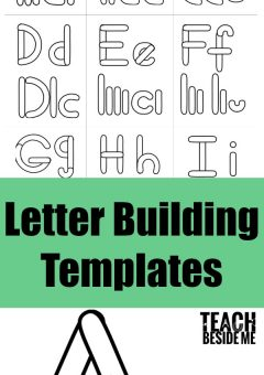 Preschool Alphabet Letter Building Templates