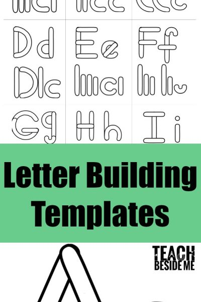 Preschool Alphabet Letter Building Templates