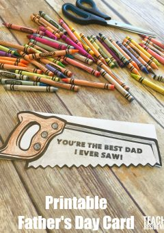 Printable Father's Day Card- Best Dad I Ever Saw