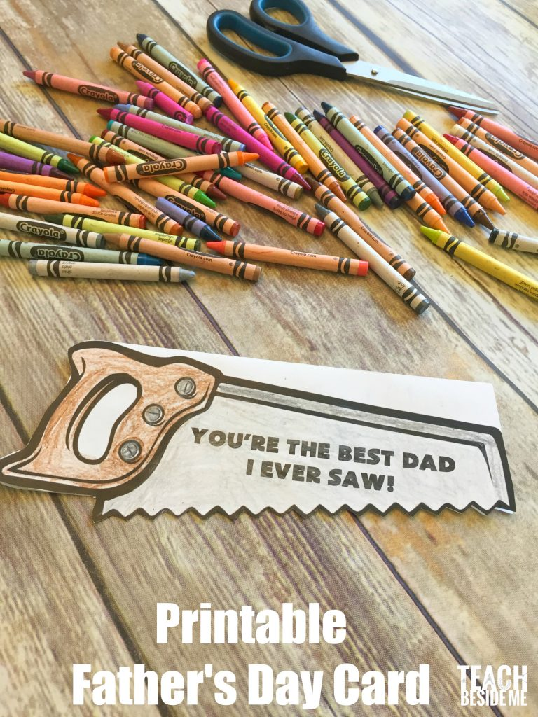 Printable Fathers Day Card Teach Beside Me