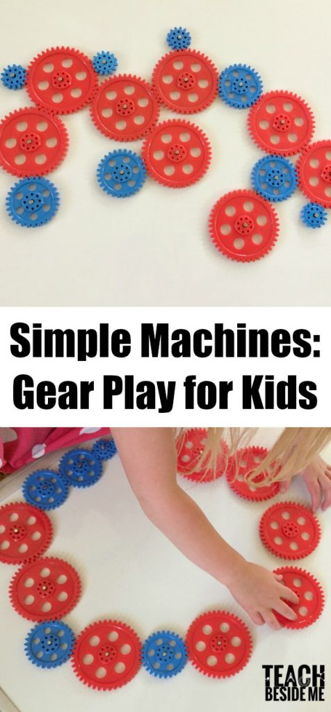 Simple Machines Gear Play for Kids with magnets
