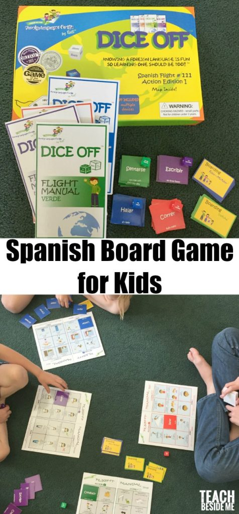 Spanish Board Game for Kids: Dice Off