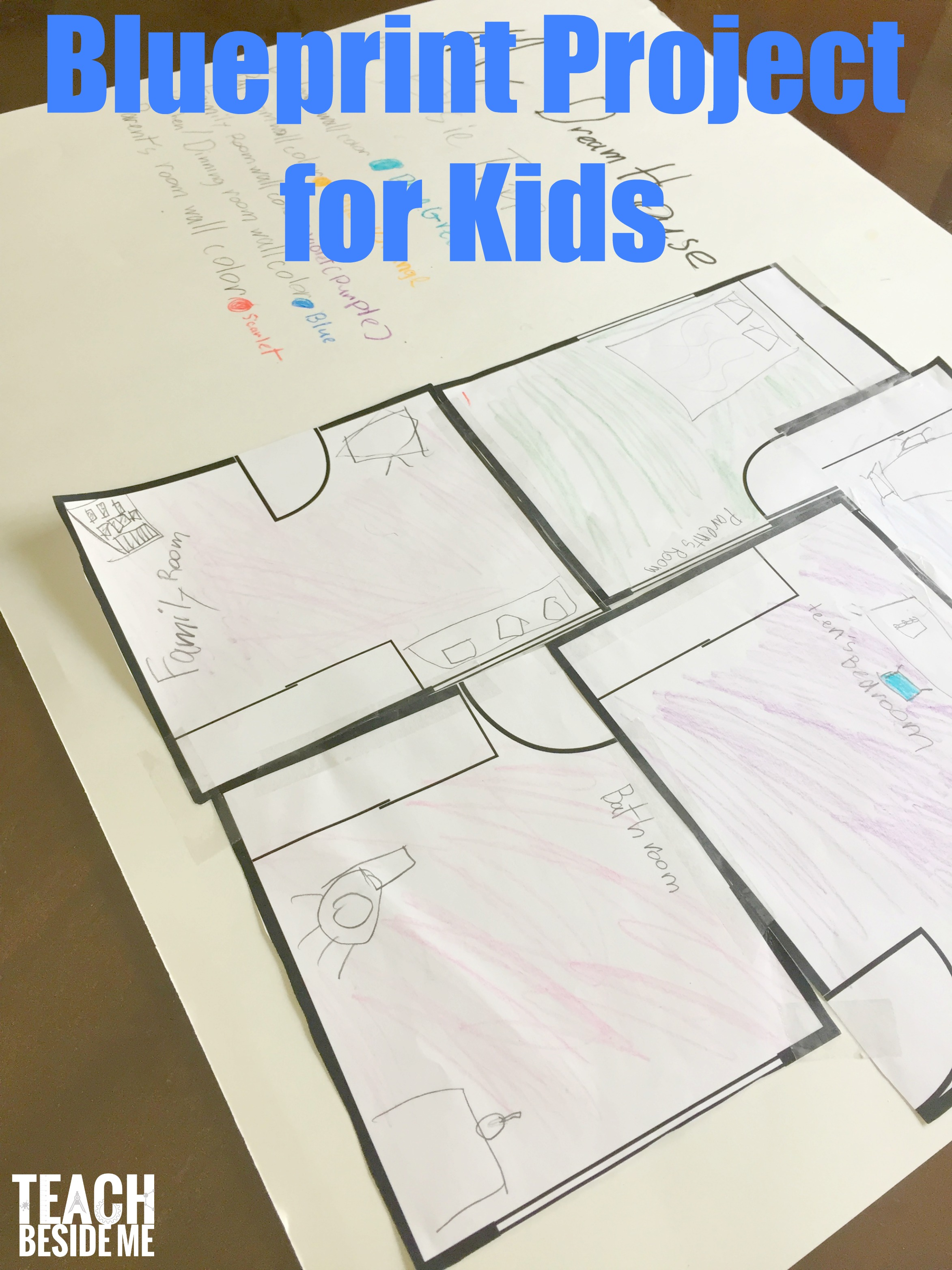 blueprints and architecture for kids inspired by frank lloyd wright teach beside me. Black Bedroom Furniture Sets. Home Design Ideas