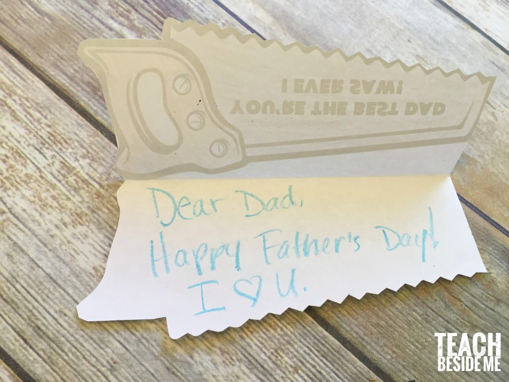 homemade printable father's day card