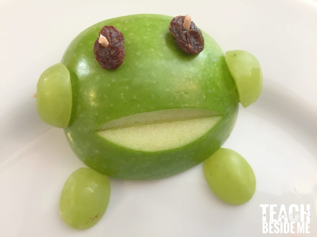 preschool frog snack for kids- frog life cycle