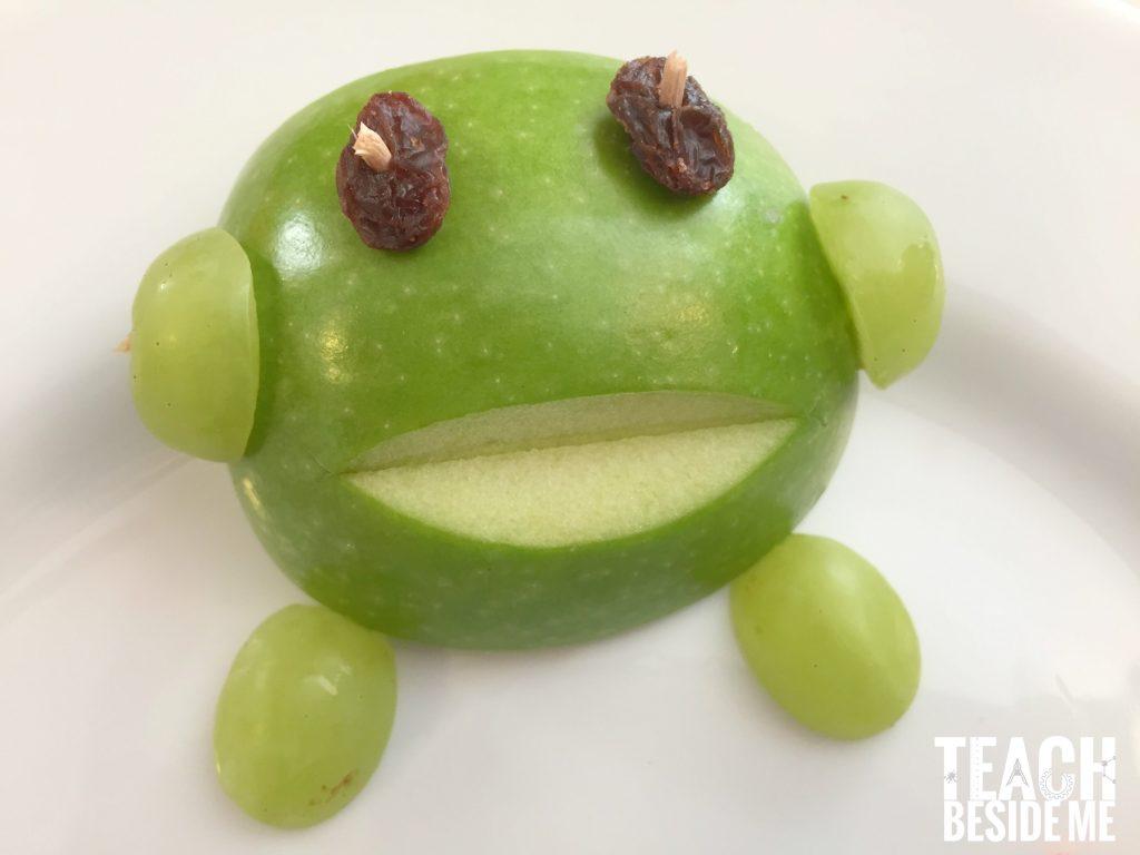 preschool frog snack for kids- frog life cycle