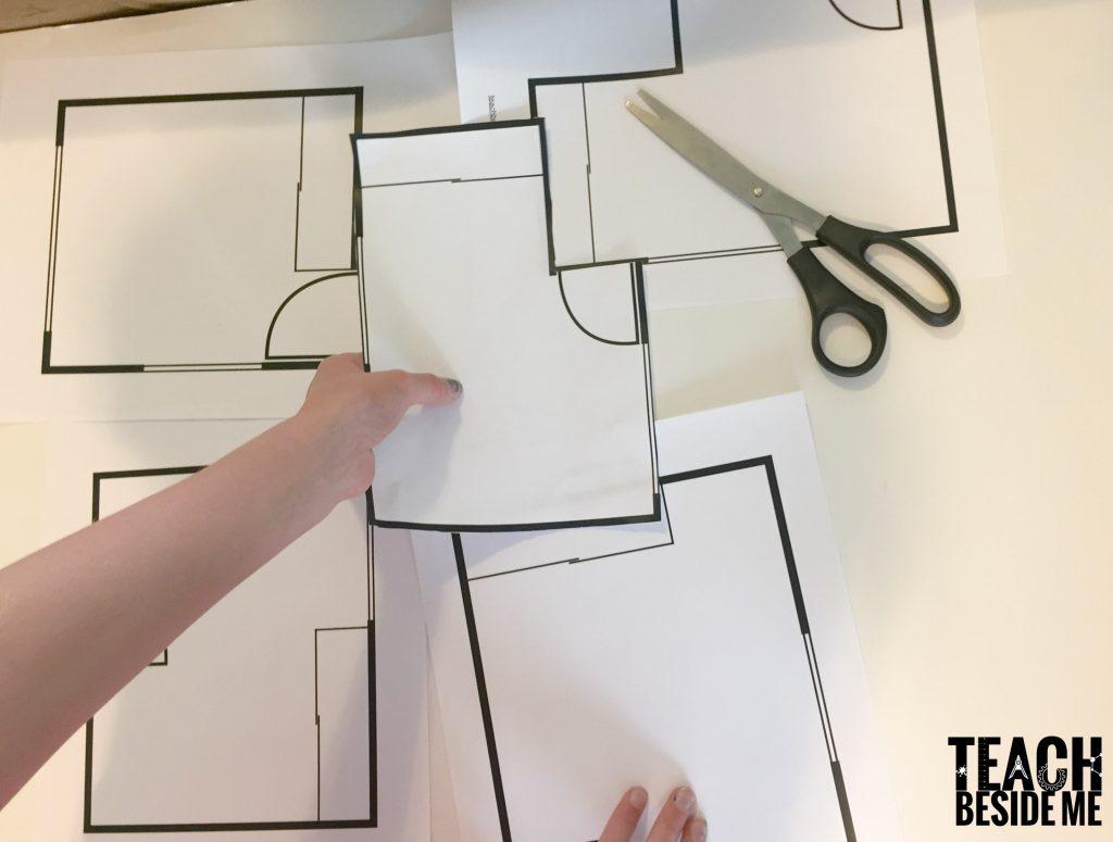 teaching blueprints to kids- frank lloyd wright