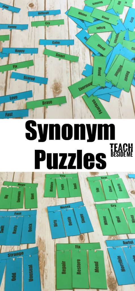 Printable Synonym Puzzles- vocabulary lesson