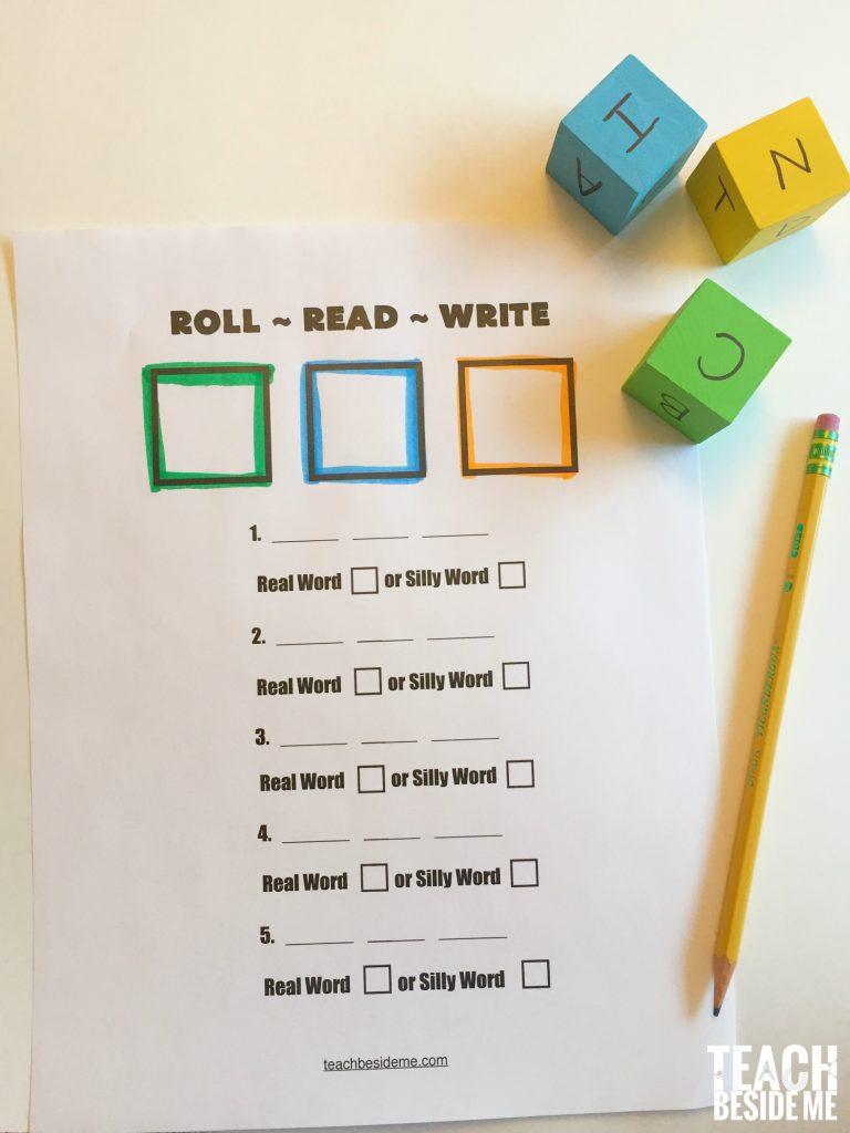 Beginning Reading Game Roll Read Write Teach Beside Me