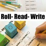Beginning Reading Game: Roll, Read, Write