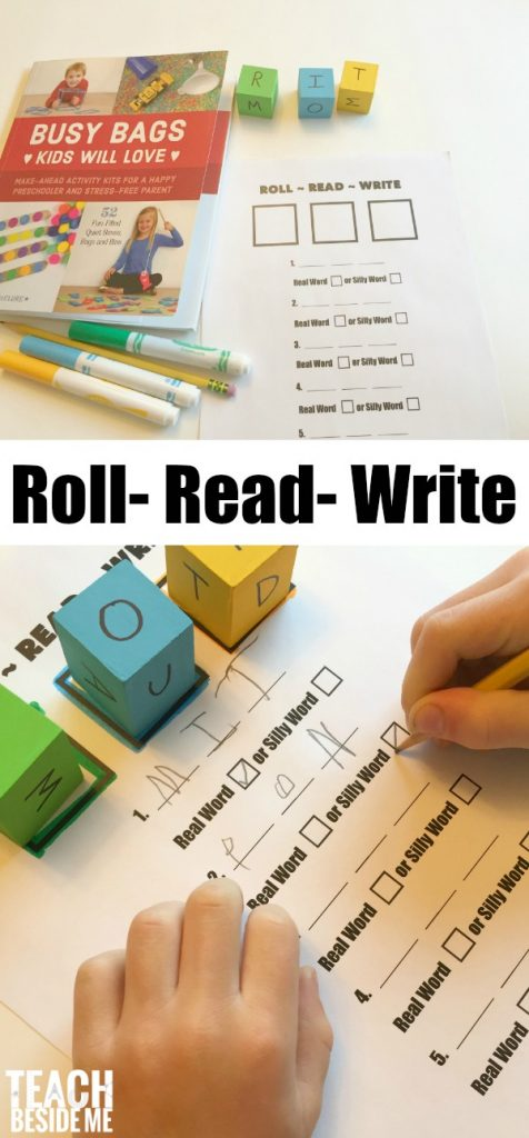 Roll- Read - Write reading game