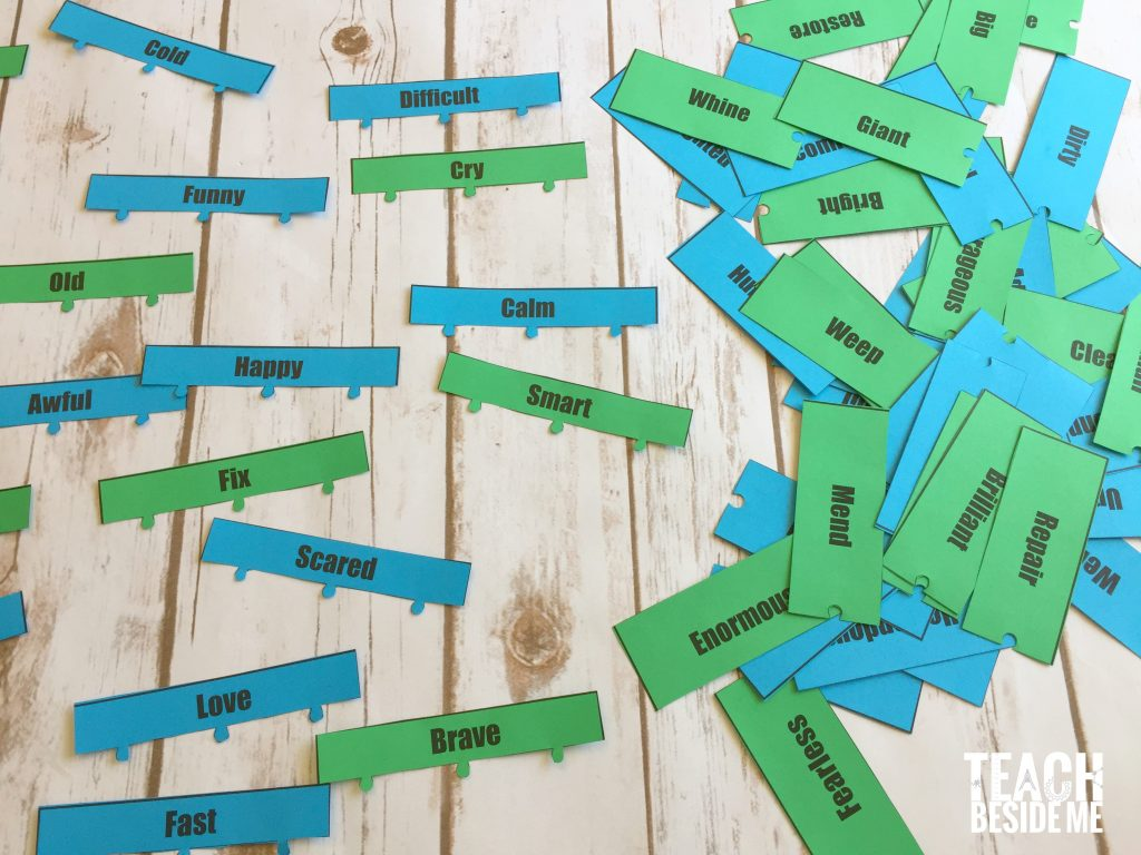 printable synonym game