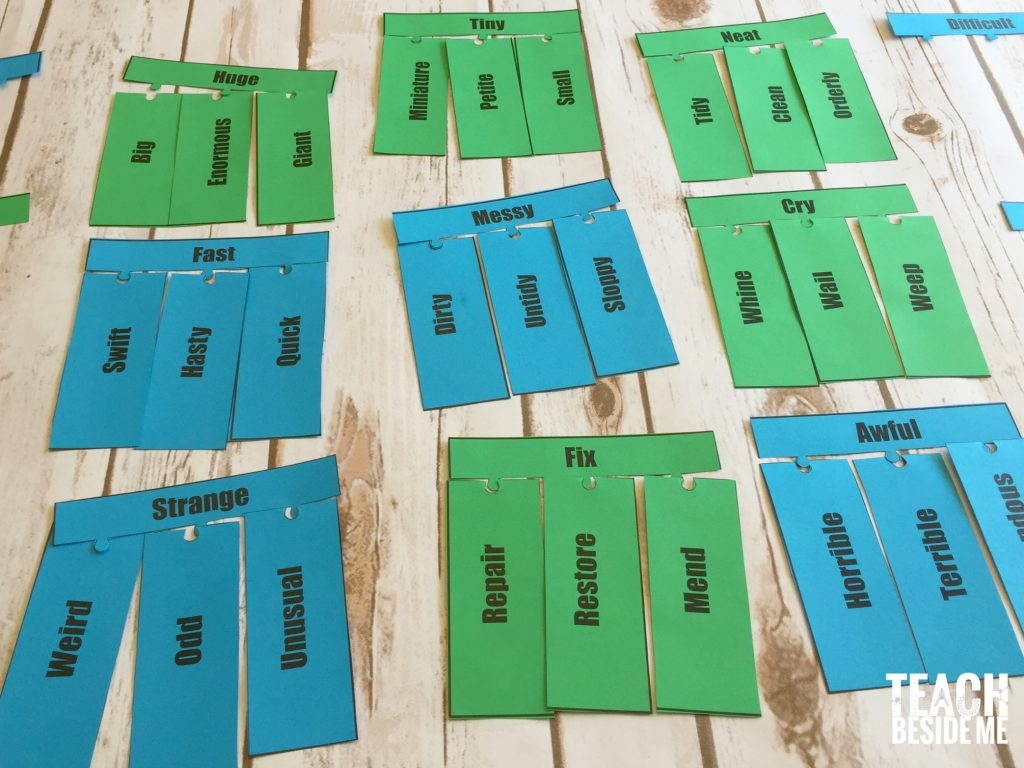 synonym puzzles for kids